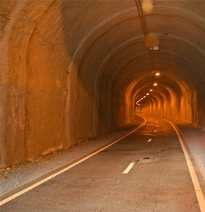 Old rail tunnel