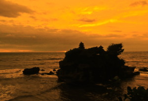 Around the corner: Tanah lot temple