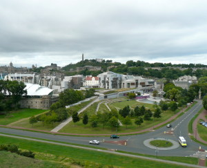 Around the corner: Scottish Parliament