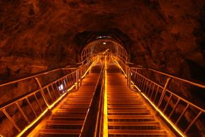 Golden stairway