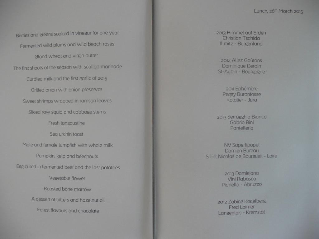 menu copenhagen